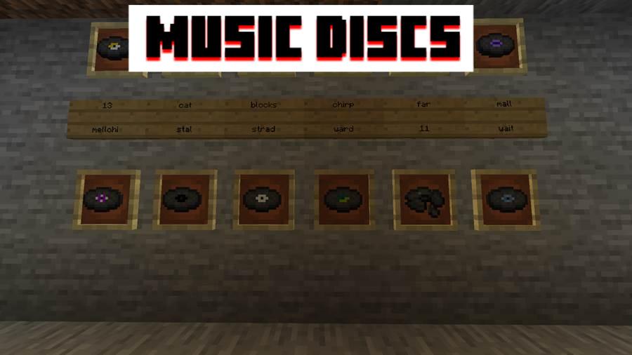 Music Discs MCPE 0.18.0