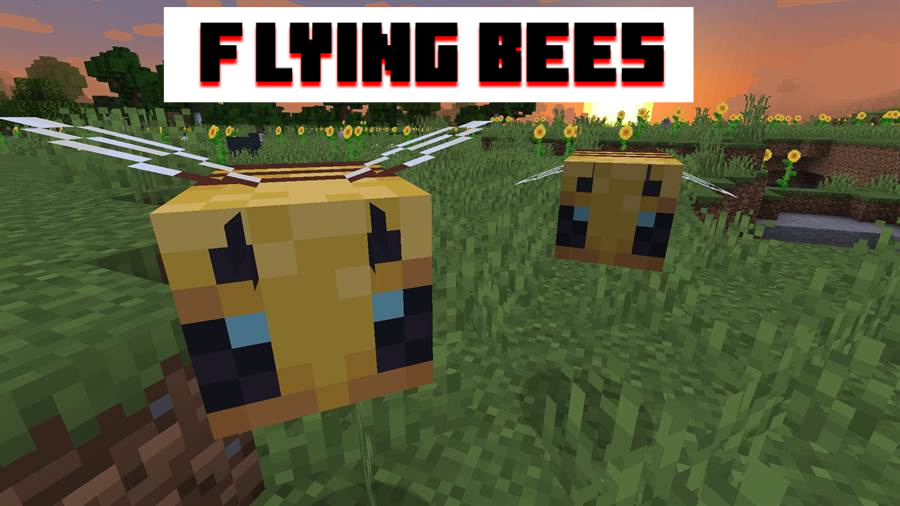 Bees in MCPE 1.14.60 apk