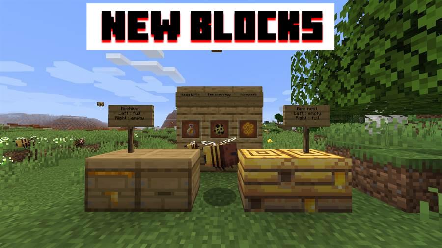 New blocks in MCPE 1.14.60 apk