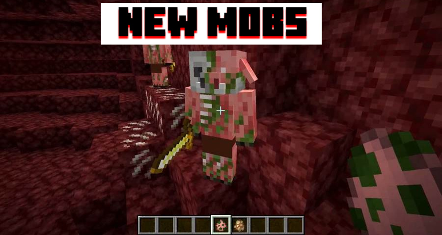 Nether Update New Mobs and Pets Minecraft PE